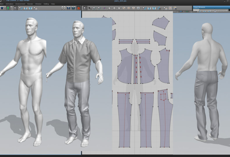 Marvelous designer 3D fashion interface