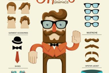 Hipster illustration