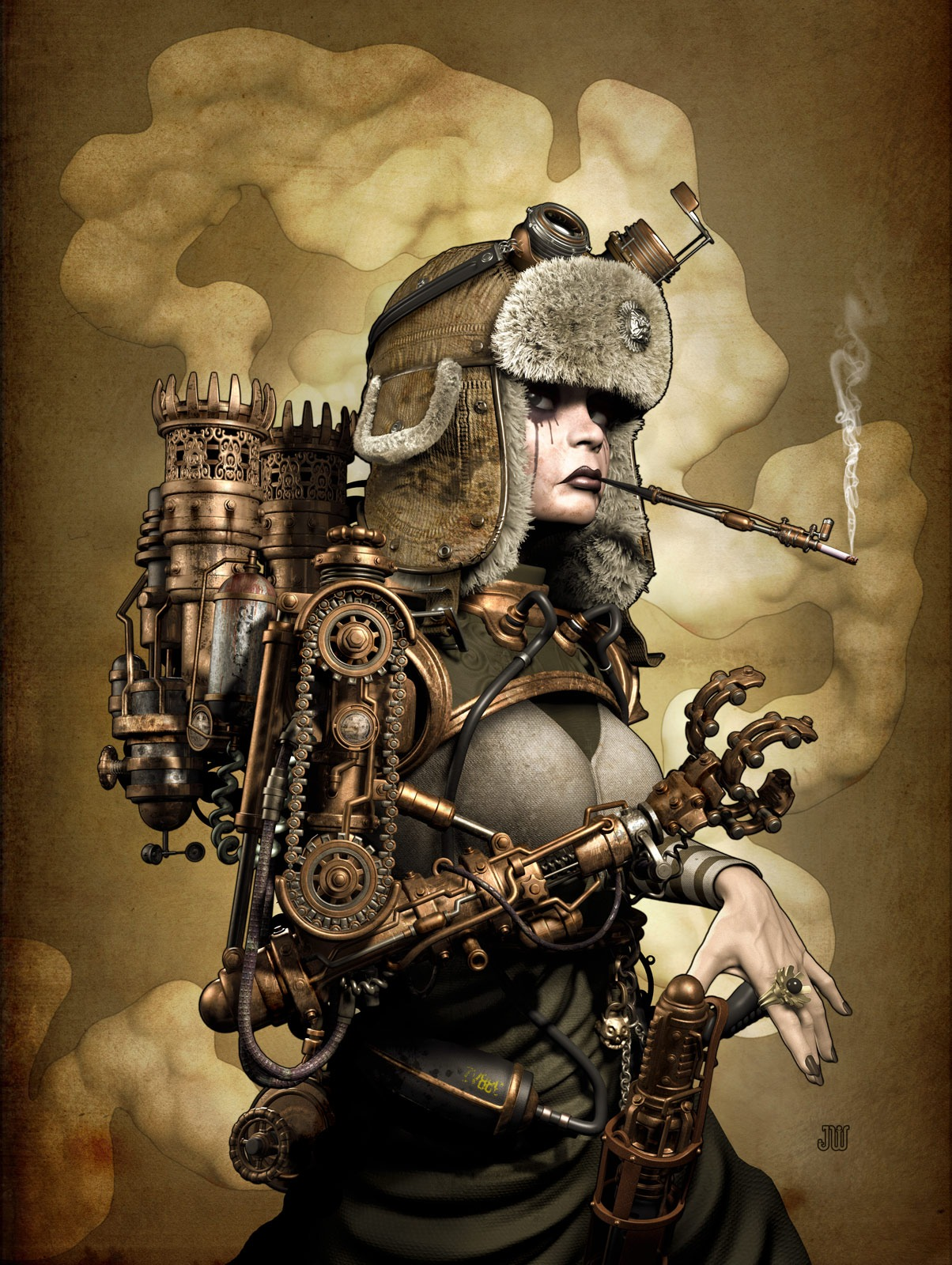 steampunk - a digifashion phenomena - MAGIC FABRIC